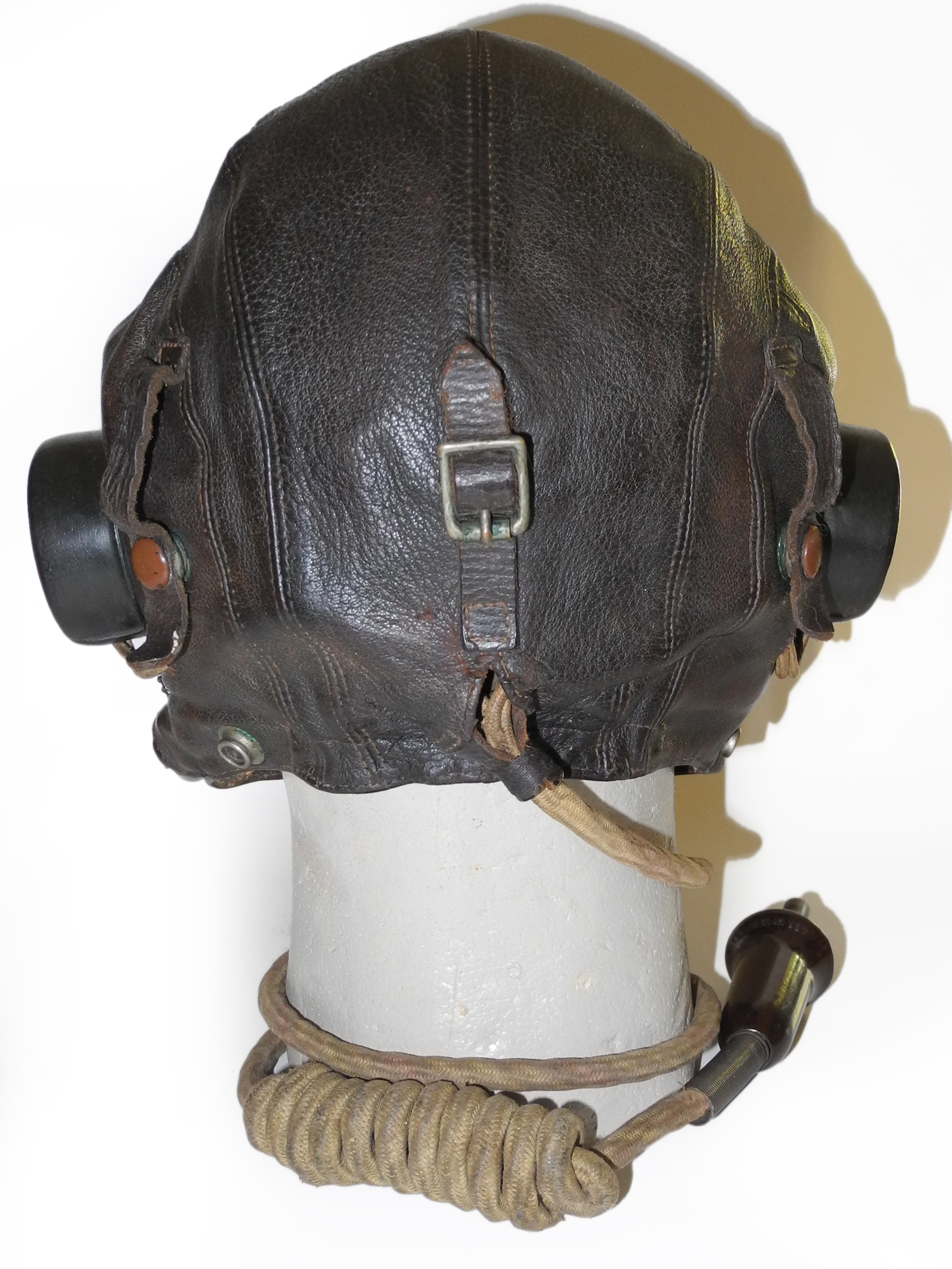 RAF Type C helmet, fully wired