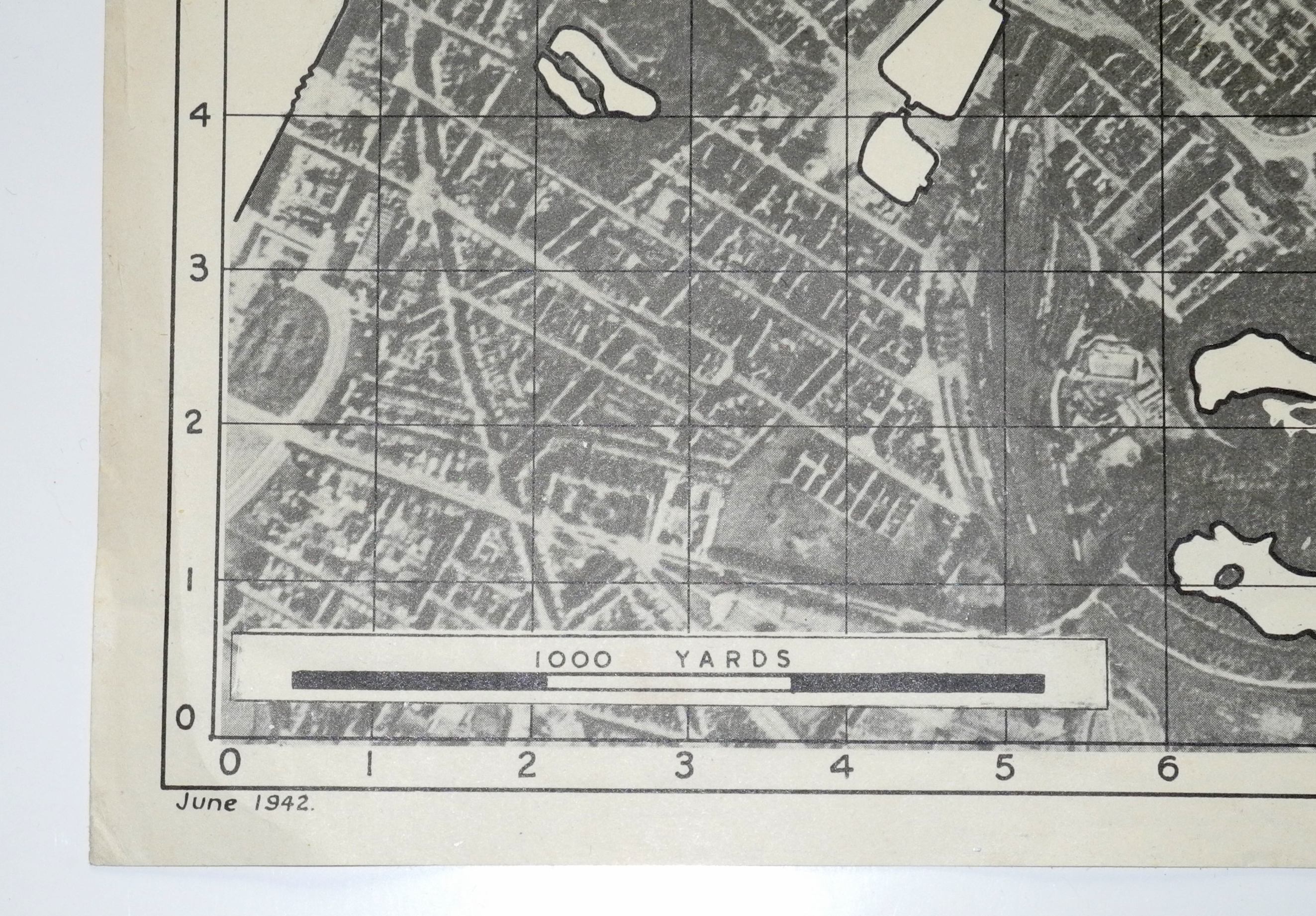 RAF photographic target map Ostend, Belgium