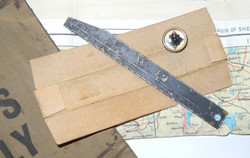 RAF MAPS ONLY escape/evasion purse with map, compass and hacksaw