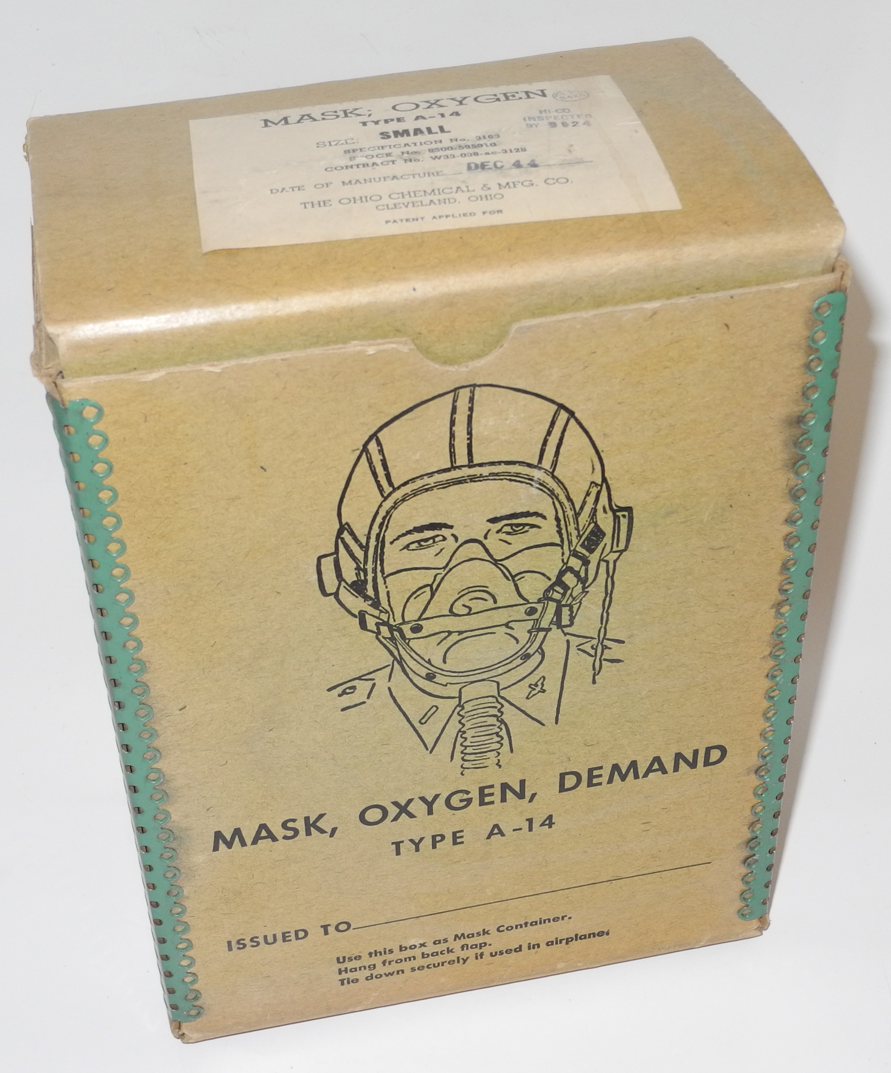 AAF A-14 oxygen mask boxed