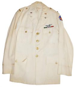 US AAC Dress White linen uniform jacket