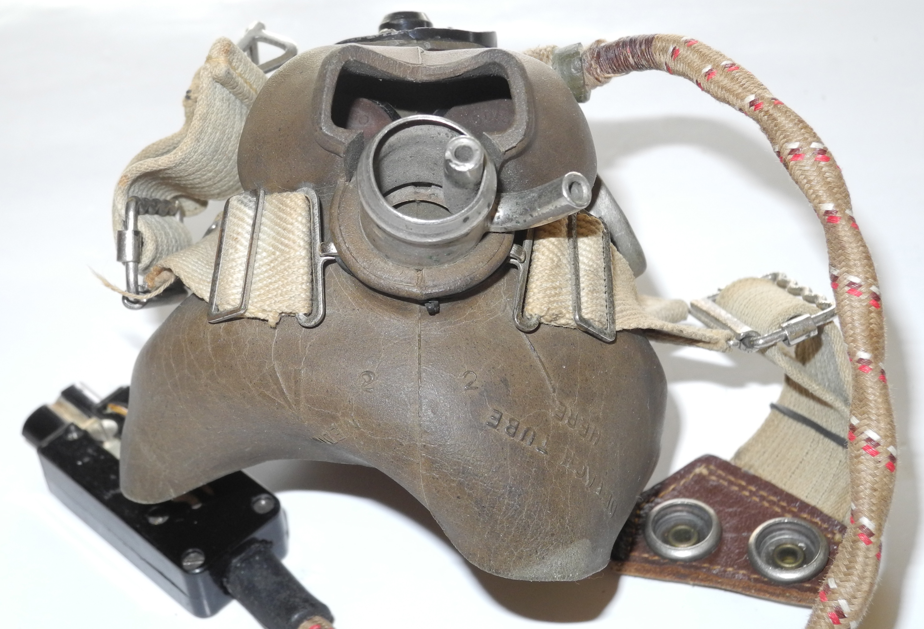 RAF Type H Mask, Feb 1945 dated with rare heater inlet.