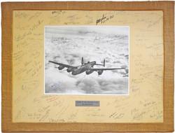 RAF Lancaster signed photo