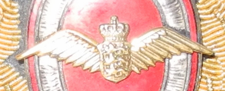 Early post war Royal Danish AF officer's cap