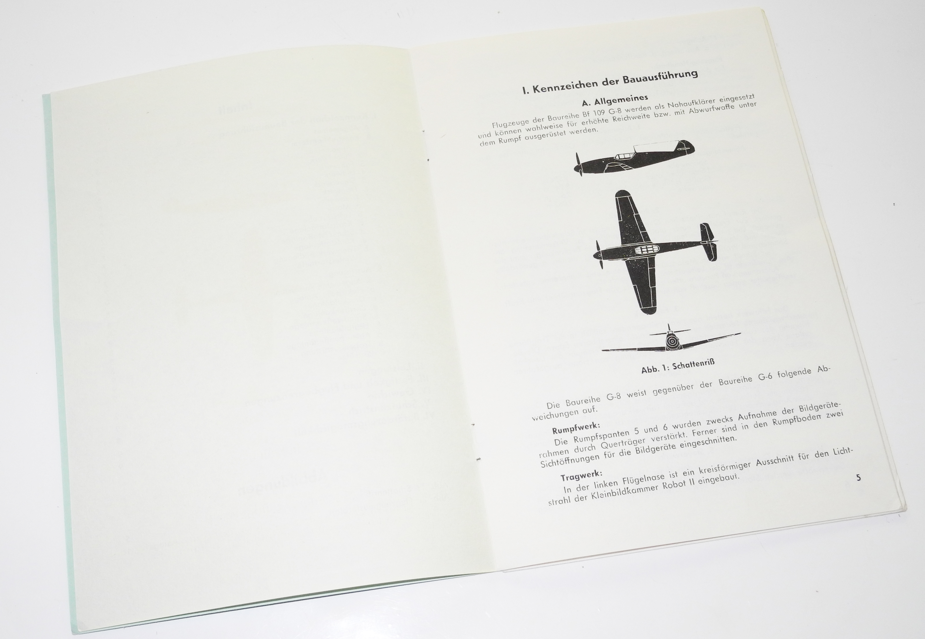 LW Messerschmidt Bf109G pilot notes