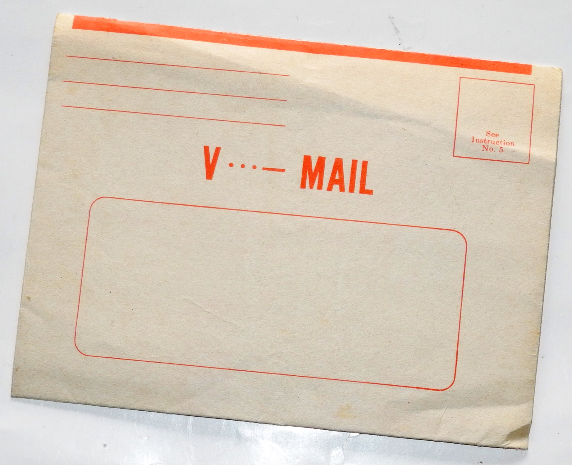 Blank, unused V-Mail letter