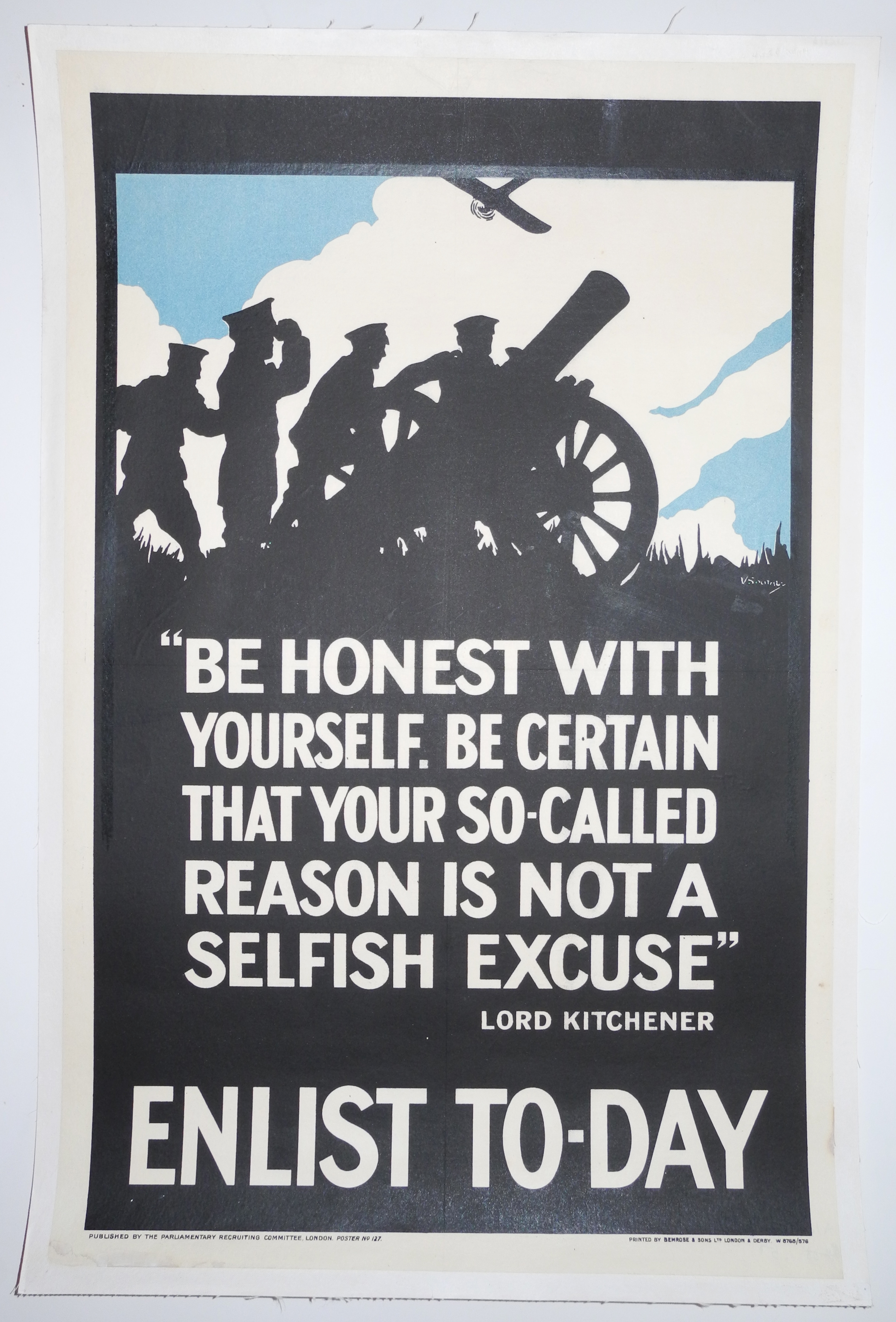 Original WWI recruiting poster