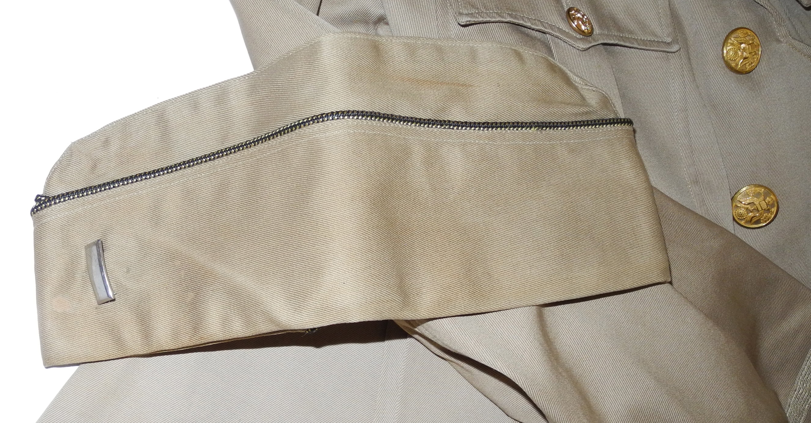 Complete AAF summer uniform: sidecap, 4-pocket tunic and trousers7