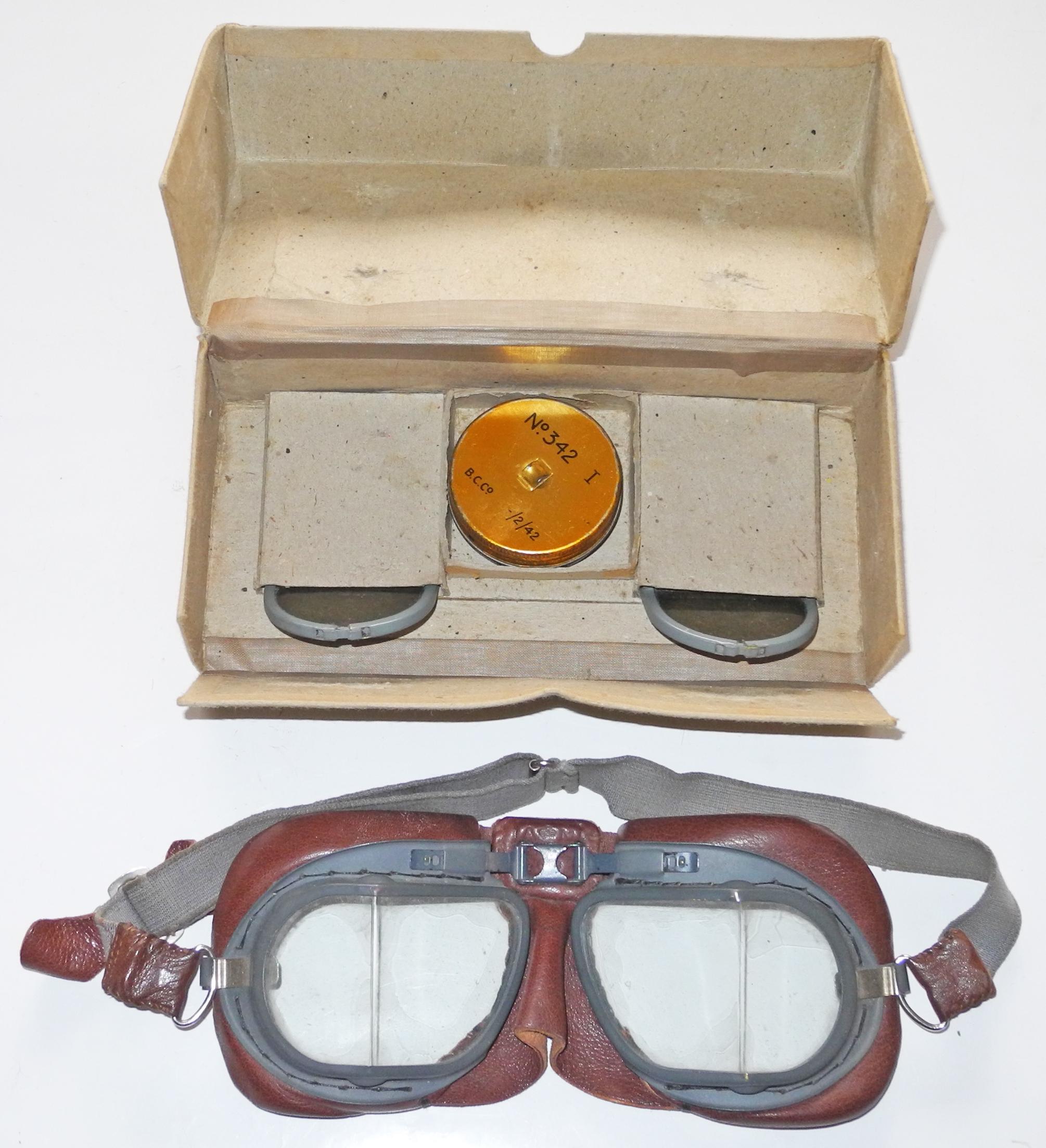 Unissued RAF Mk VIII Flying Goggles