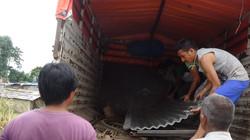 Unloading building materials