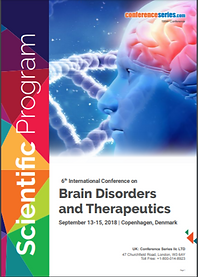 brain disorders program itinerary cover.