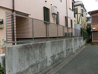 アルミ製柵【施工後】