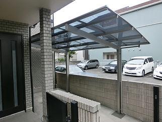 アルミ製駐車場屋根【施工後】