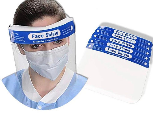 Face Shield with Foam band Pack of Ten