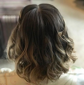 Beautiful tousled waves and braids for t
