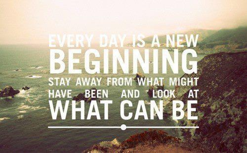 Fresh Starts, New Beginnings...