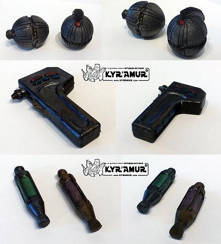 Accessoires: détonator thermal, injecteur et outil