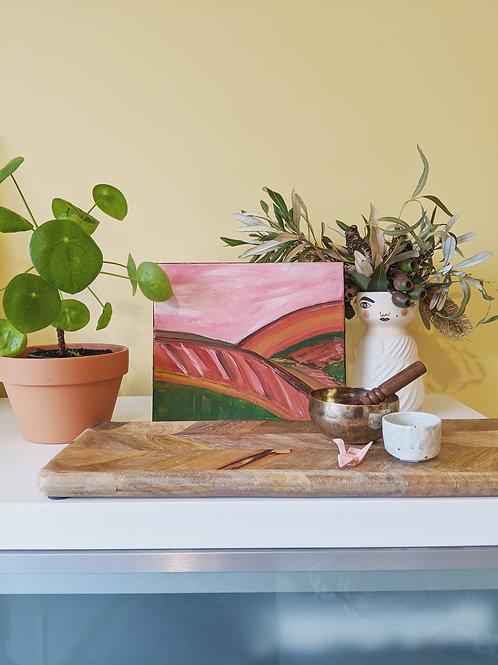 "Original Canvas Titled ""Home"" (Size 245x297x16mm)"
