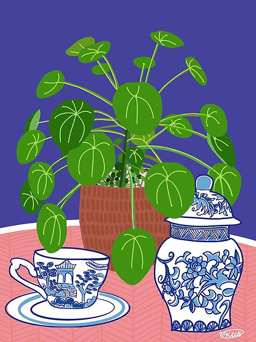 "A4  Print ""Pilea Dream"" (Unframed) Limited Edition"