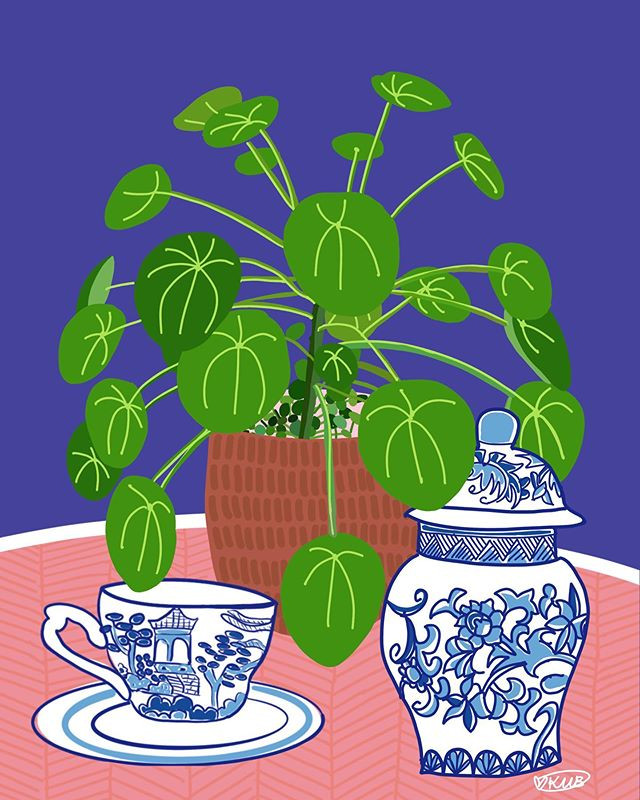 "Titled ""Pilea Dream"" A4 Limited Edition"