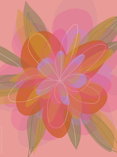 "A4 Print ""Flourishing"" (Unframed)"