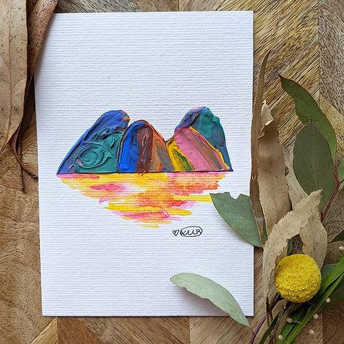 Sunset Mountain (Size:105x148mm)