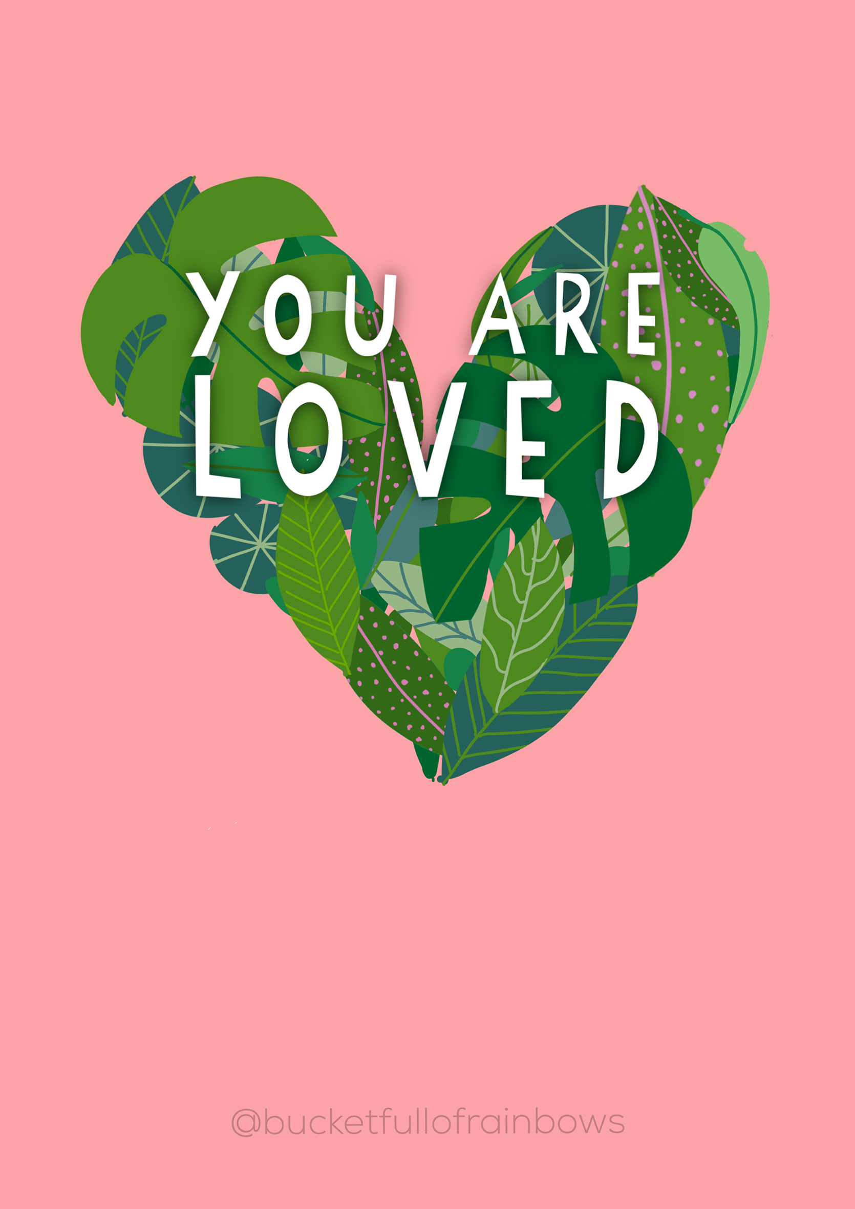 You are Loved A4 Preview