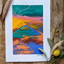 """""""Sunset Mountain"""" A5 Size 148mm x 210mm"""