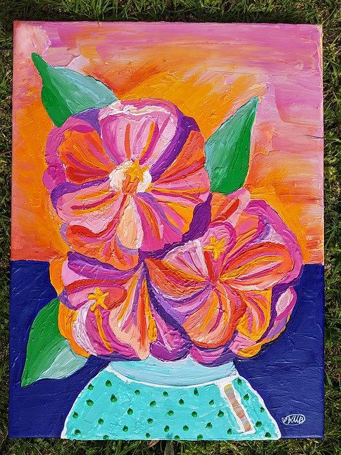 """Tangerine Joy"" (Original Canvas)"