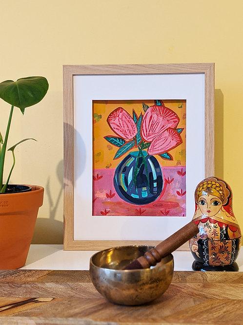 "A4 Original ""Earthy Flower"" (Frame Size: 445x332mm)"