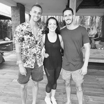 With Emile Steenveld and Joel Brown in Bali