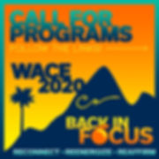 WACE 2020 Call for Programs Graphic
