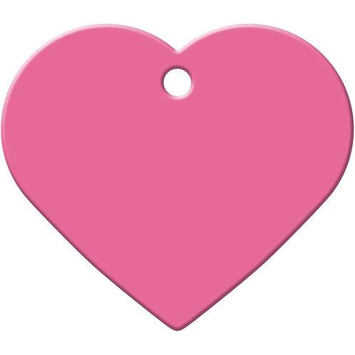 Large Heart Shape Anodized Aluminum Pet ID Tags *More Colors