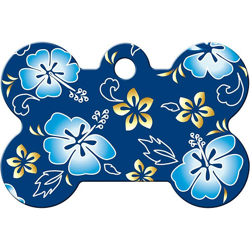 Hibiscus Pet ID Tags