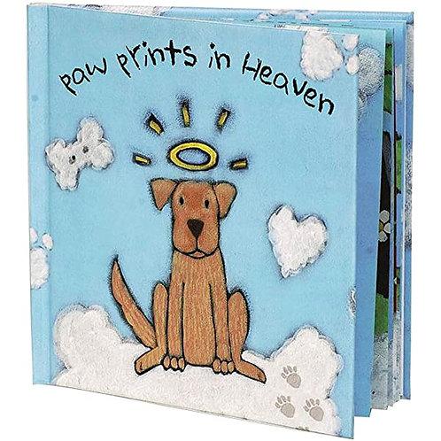 BEREAVEMENT BOOK - PAW PRINTS IN HEAVEN