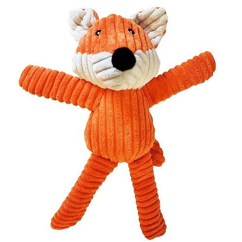 Fox Corduroy Squeaker Toy