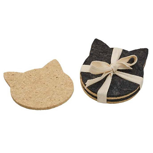Recycled Rubber Coasters (Cat)