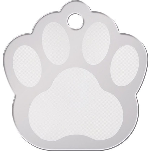 Paw Shape Plated Brass Pet ID Tag