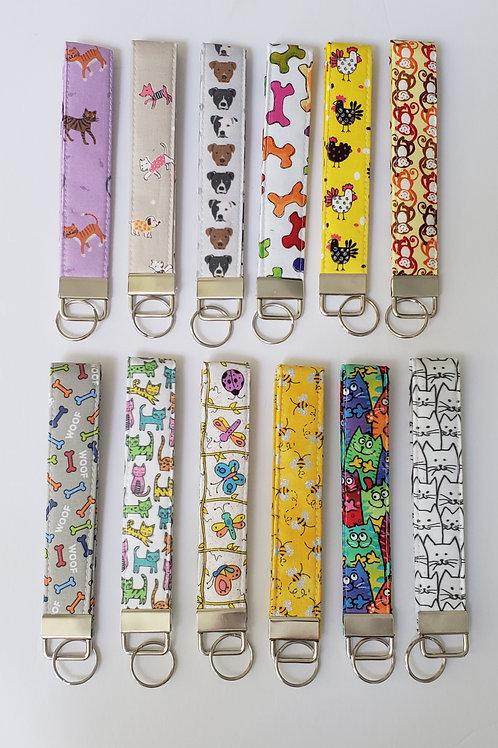 Key Wristlet - (12 Designs)