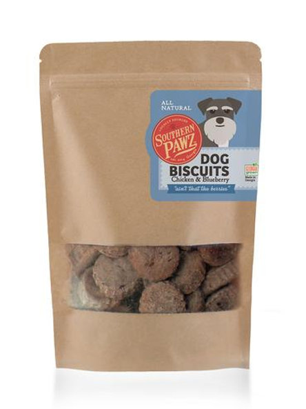 Southern Pawz - Chicken and Blueberry 6 oz. Resealable Bag Cookie Size Bites