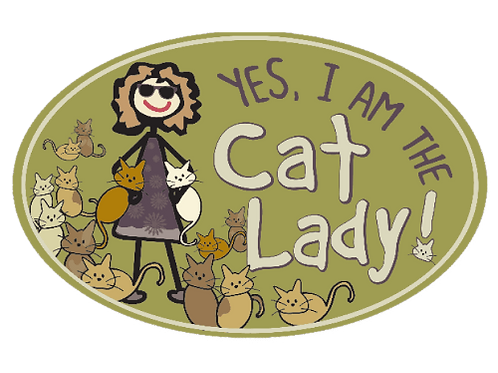 Oval Car Magnet - Yes, I'm the Crazy Cat Lady