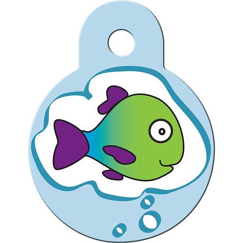 Cat ID Tag - Dreaming Fish Pet ID Tag