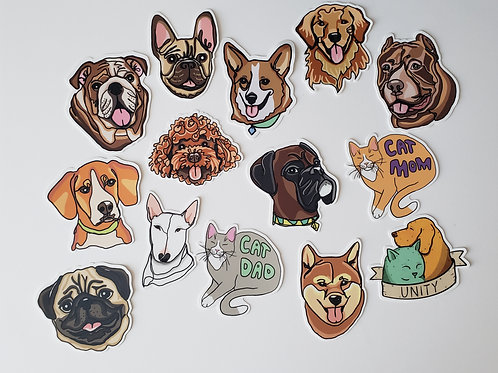 Sticker Decal (14 to choose from)