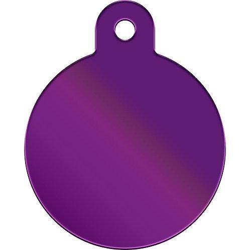 Large Circle Shape Anodized Aluminum Pet Tag  *More Colors
