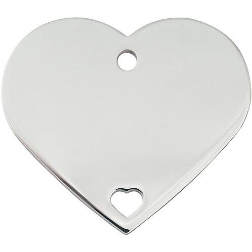 Heart Shape Plated Brass Pet ID Tags