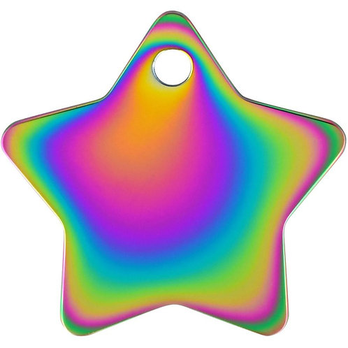 Star Shaped Plated Brass Pet Tag