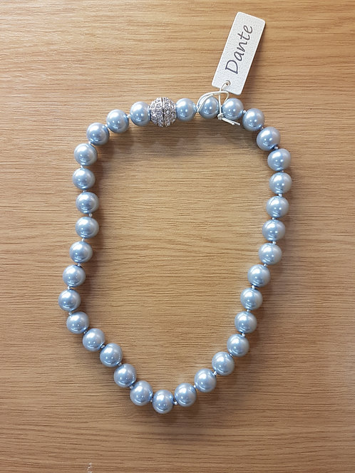 Dante Pale Blue Chunky Pearl Necklace NL15339