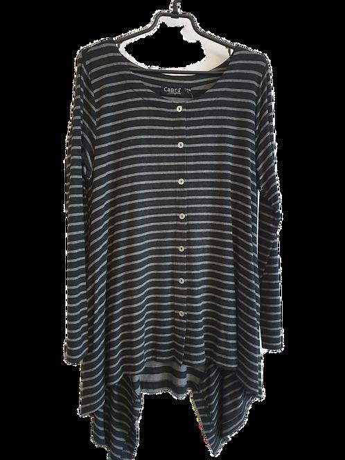 Capri grey stripe tunic