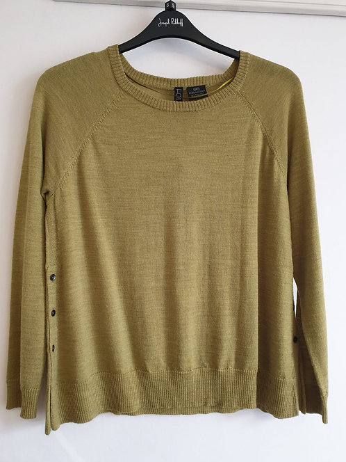 Foil green merino wool jumper