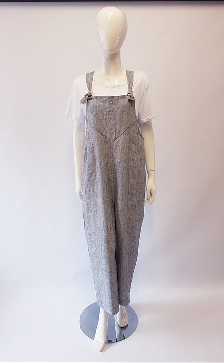 Foil Field Day Linen Dungarees TUK6150